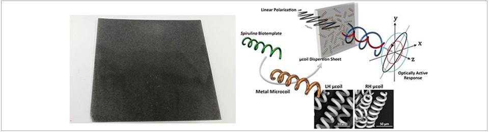 Metal microcoil dispersion sheet