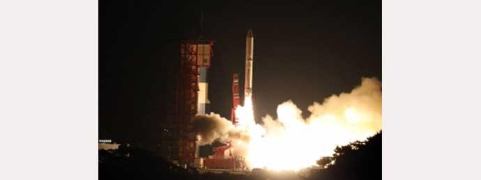 イプシロン2号機の打ち上げ写真