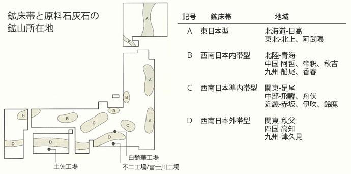 石灰石鉱脈図
