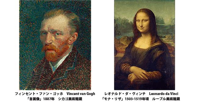 「自画像」と「モナ・リザ」