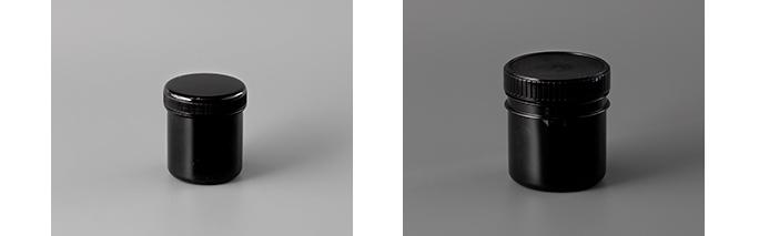 遮光容器(左:160ml、右:300ml(ツメ付き))