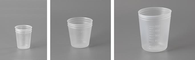 ディスポーザブル容器(左から100ml、200ml、500ml)