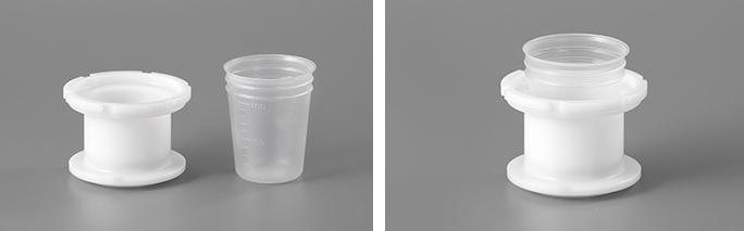 100mlディスポ―ザブル容器+専用アダプター