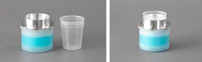 100mlディスポーザブル容器+保冷アダプター