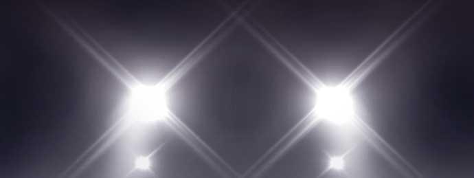 LEDライトの光